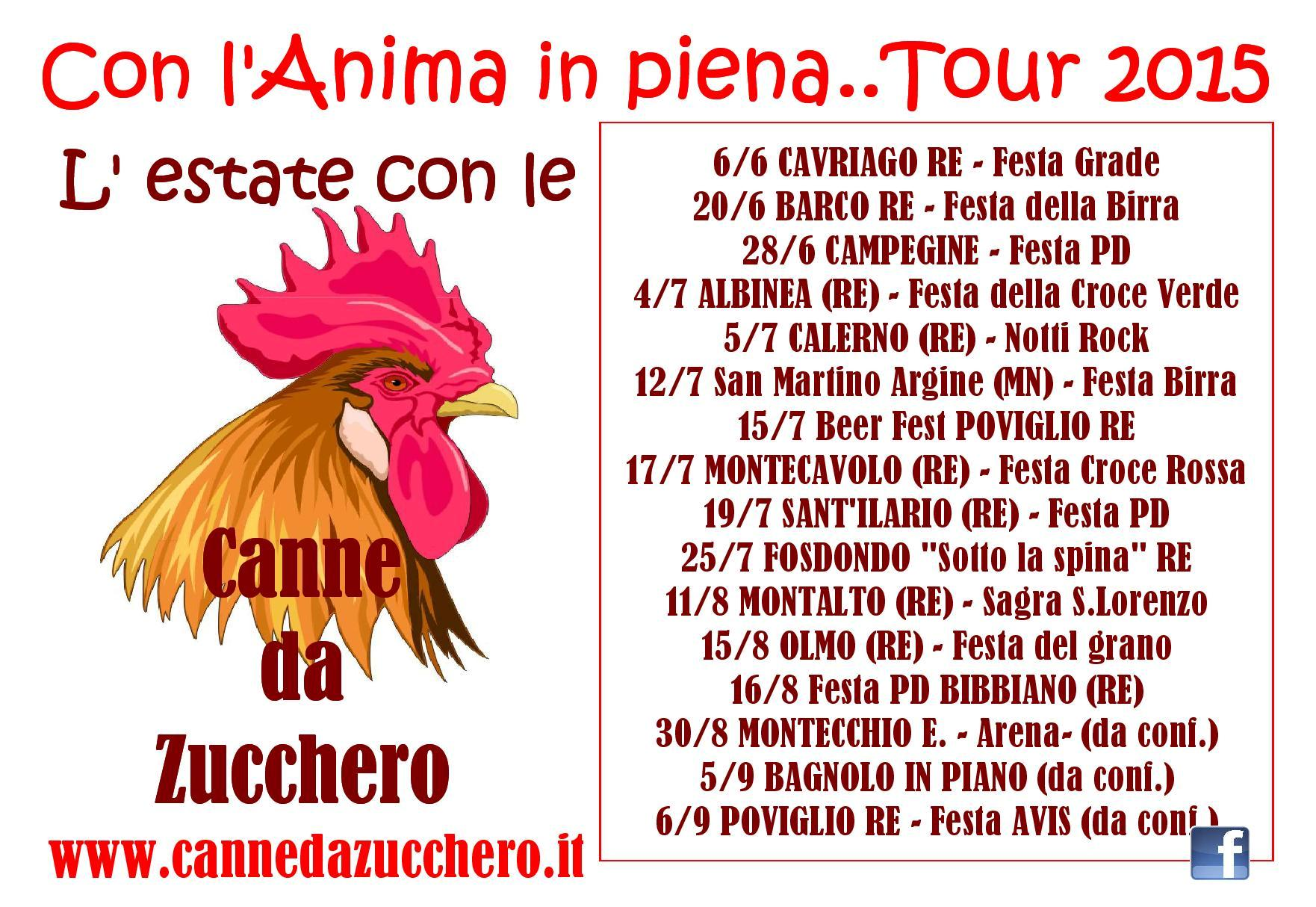 Con l'anima in piena....tour 2015