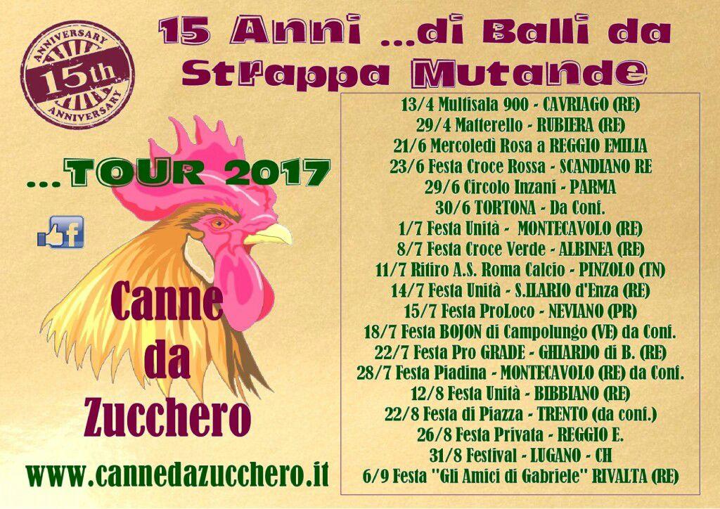 15 anni di Balli da Strappa Mutande....tour 2017