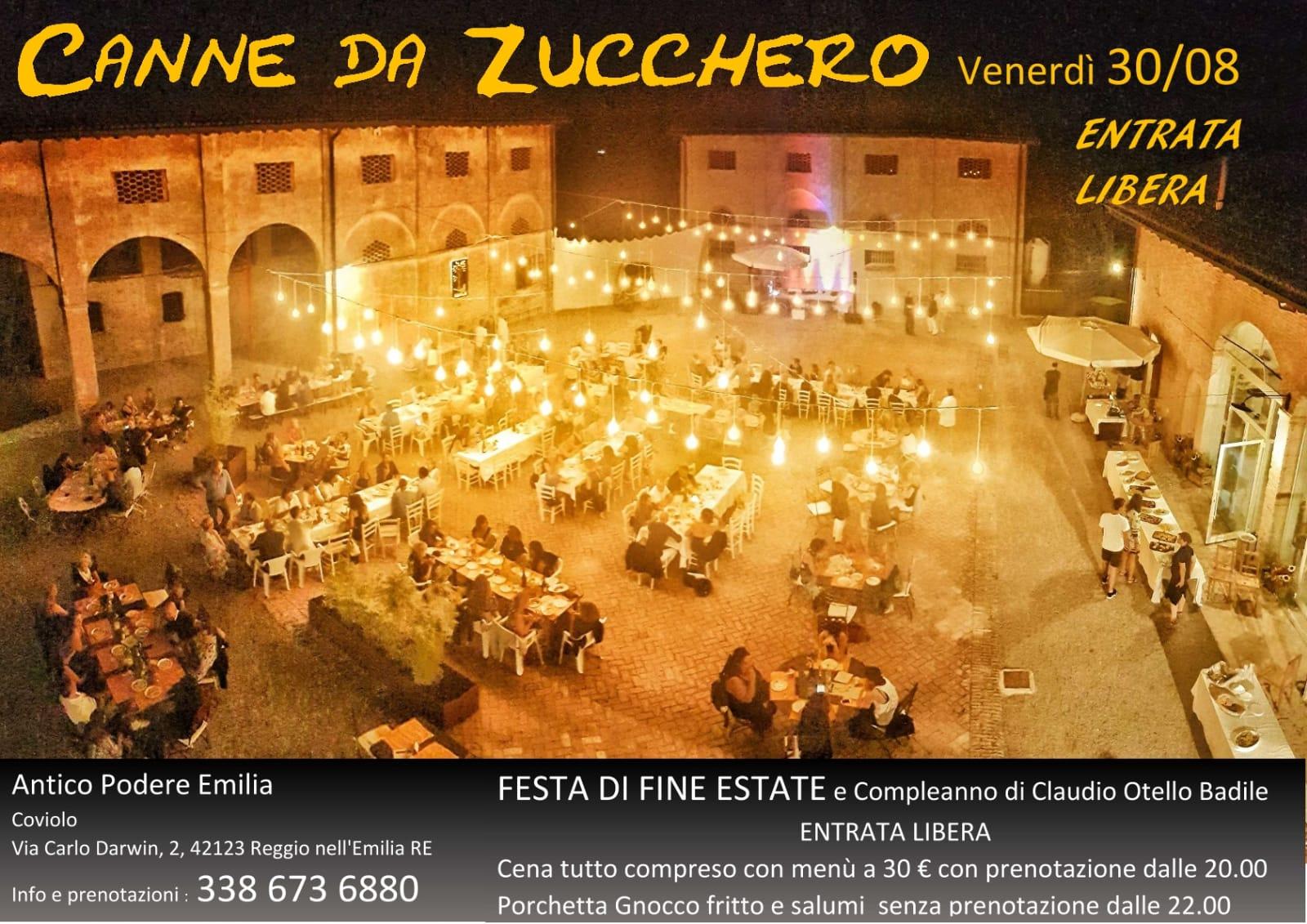 Festa di fine estate e compleanni all'Antico Podere Emilia